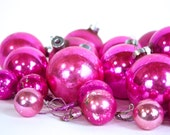 Pink Christmas Tree Ornaments  / Vintage - sevenbc