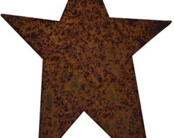 "25 Rustic Primitive Tin Stars - 2""x2.5"""