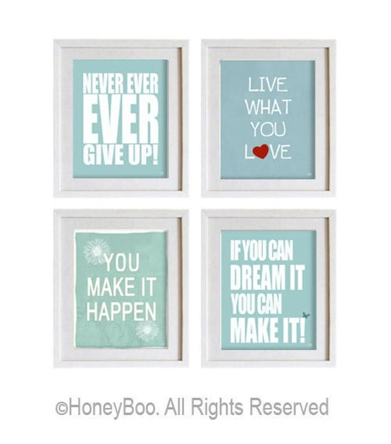 Inspirational Wall Hangings items similar to motivational art prints, inspiring wall art