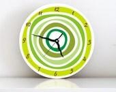 Green Circles Geometric Modern wall clock הכי הרבה צפיות