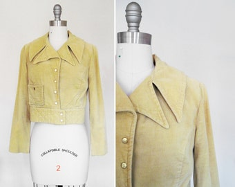 Vintage 60s 70s Soft Cropped Moto Jacket AS IS / Pattern Study