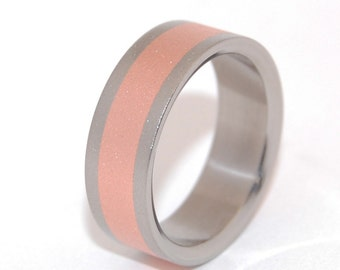 Wedding ring, titanium ring, m3, men's ring, titanium wedding ring, women's ring, copper – CANDLELIGHT