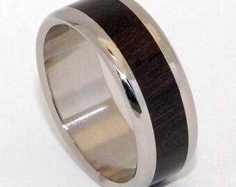 Wooden Wedding Rings, titanium ring, titanium wedding rings, Eco-friendly rings, mens ring, womens rings, wood rings - MOLUCCAS MACCASSAR
