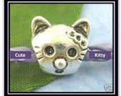 Cute Cat Charm - Fits European Style Bracelets