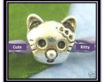 Cute Cat Charm - Fits European Style Bracelets