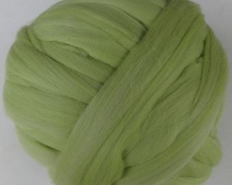 Merino Roving, Wool Roving, Merino Wool Roving, Felting Wool, Spinning Wool, Merino Wool  - Chartreuse -8 oz