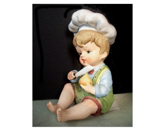 YOUNG BOY CHEF - Piano Baby Figurine