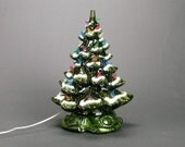 Vintage Large midcentury lighted Ceramic Christmas