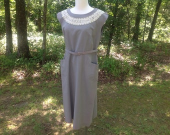 Vintage Day Dress 1950s Size Large