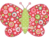286 Zig Zag Butterfly Machine Embroidery Applique Design