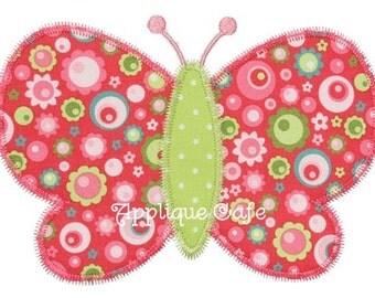 286 Zig Zag Butterfly Machine Embroidery Applique Design
