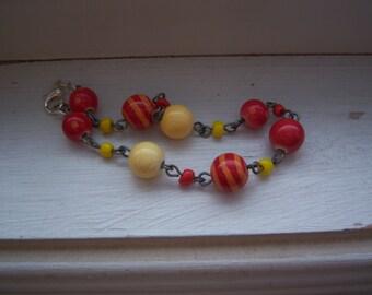 Whimsical beaded bracelet