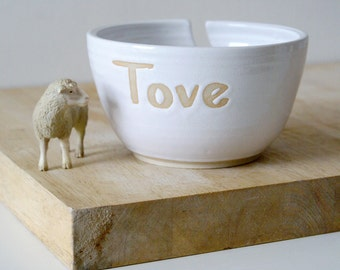 Made To Order - Stoneware little star yarn bowl customised with your own message