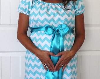 Maternity Hospital Gown in Lilly - Perfect for Nursing and Skin to Skin - Choose Your Options - Ready to Ship