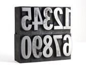 NUMBERS - 84pt Metal Letterpress (Condensed)