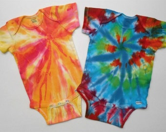 SALE! Set of Tie Dyed Onesies, Size 18 Months, Free Shipping!