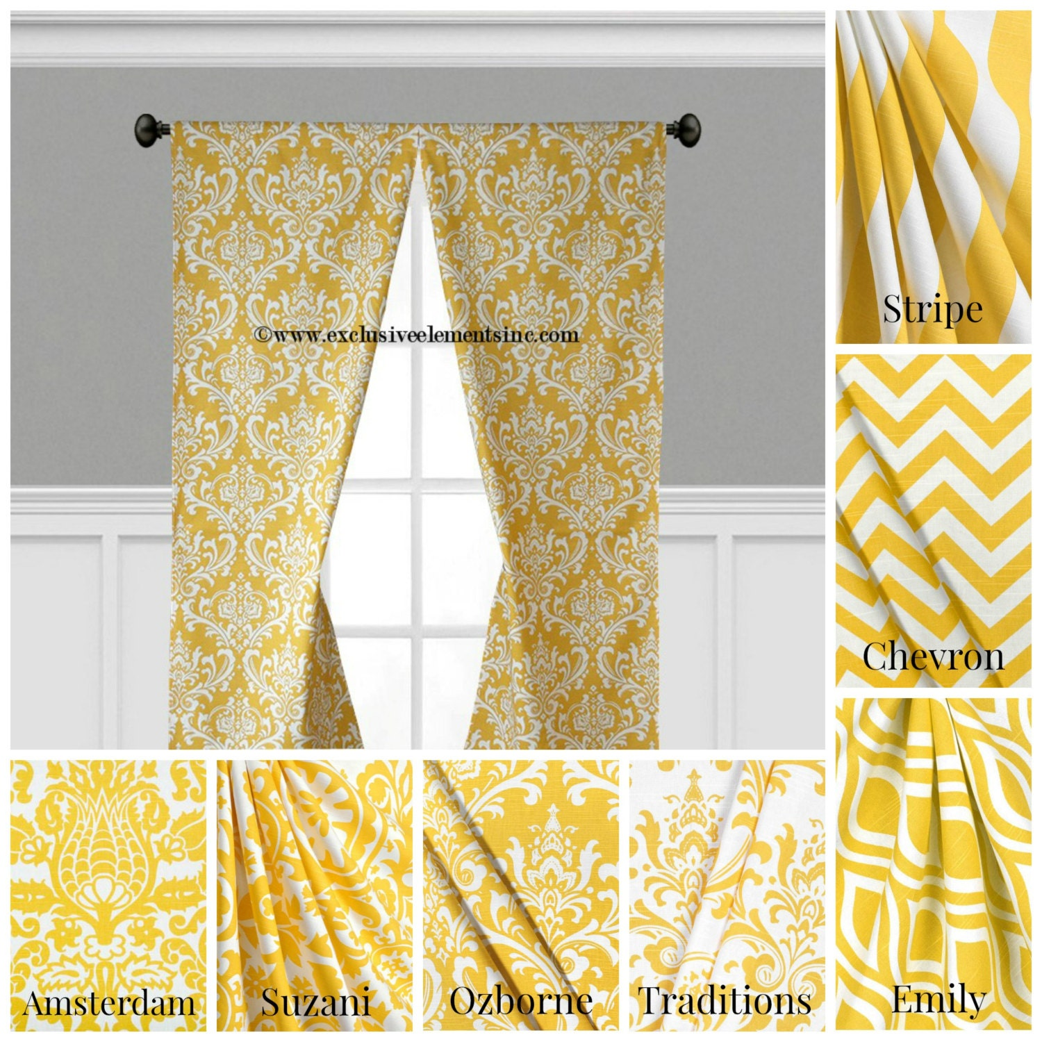 Light pink chevron curtains - Modern Yellow Curtain Panels Modern Geometric Chevron Damask Stripe Drapery Window Treatments Set Pair