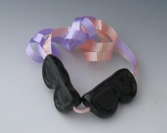 Beads, Ceramic Beads, Ceramic Novelty Beach Theme Beads, Ceramic Beach Bead, Ceramic