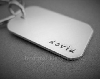 Personalized Name Keychain, Available in 2 finishes, Gift for Men and Women