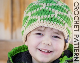 CROCHET HAT PATTERN Kid's Shell Shock Beanie