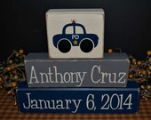 Custom Personalized Children's Name Wood Blocks