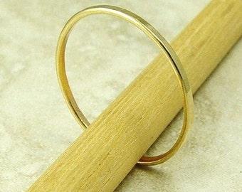 14k Gold Ring / Gold Wedding Ring / Gold Stacking Ring / Solid Gold Ring / Sizes 2 thru 7 this price