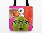The Muppets Inspired Bunsen and Beaker Tote Bag MADE to ORDER Science
