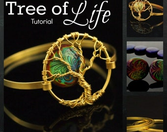 Tree of Life Bangle Tutorial - 19 page Instant Download - Detailed Instructions Full Color Photos - Forming, Wire Wrapping, Distressing