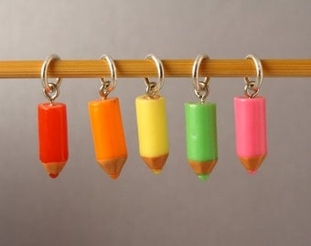 Let's Colour In! Stitch Markers for Knitting