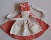 Vintage 1960's Barbie Q Dress and Apron - great vintage condition - plus Guinevere slippers