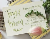 Watercolor Wedding Engagement Party Invitation