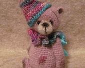 Miniature Thread Artist Crochet Teddy Bear PATTERN for Rose by Joanne Noel of  Bayou Bears