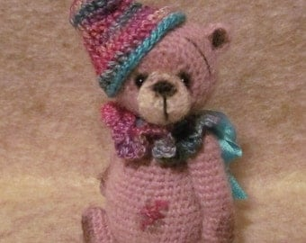 Miniature Thread Artist Crochet Teddy Bear PATTERN for Rose by Joanne Noel of  Bayou Bears