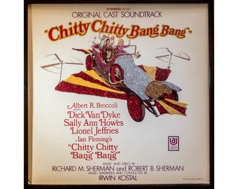 Glittered Vintage Chitty Chitty Bang Bang album Art