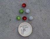 christmas decor Reindeer treats little bowl