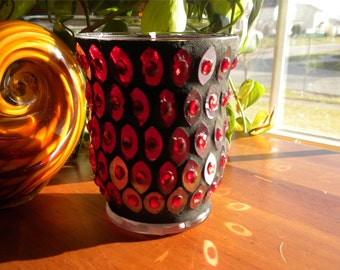 Red Mosaic Gel Candle