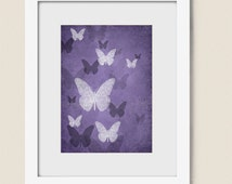 Popular items for bathroom wall art on etsy for Deep purple bathroom ideas