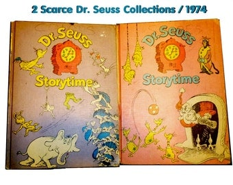 Dr. Seuss Storytime. Two Scarce Volumes of Dr. Seuss Stories. 1974. Appear to be First Editions.