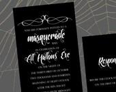 Masquerade, a printable Wedding Invitation Suite