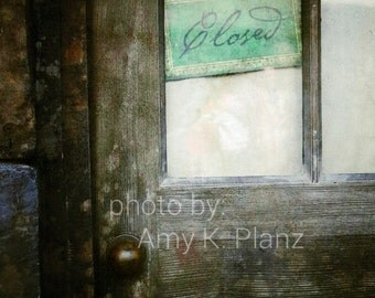 5x7 Mysterious Closed Door Photo