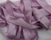 Pure Silk Ribbon Antique/Rose Color 1inch wide 5  yard Spool