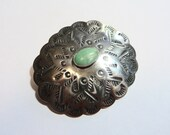 Vintage Sterling Silver Native American Southwest Style Turqouise Pin Brooch on Etsy