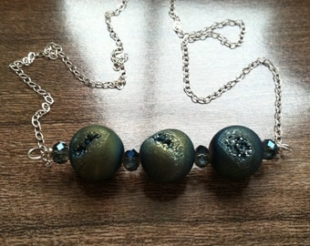 druzy trio necklace