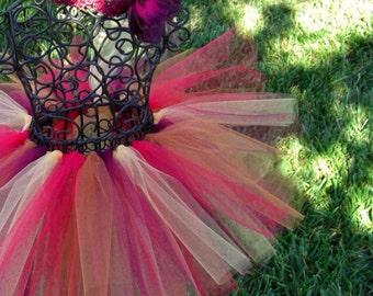 Baby Autumn Tutu- Harvest Glow Tutu- Girls Autumn tutu- Red tutu, copper tutu, gold tutu, burgandy tutu- 6, 12, 24, 18 months, 2T, 3T,4T,5T