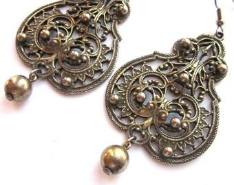 Large Statement Dangle Earrings Bohemian Jewelry