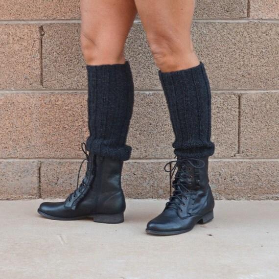 Knit leg warmers charcoal