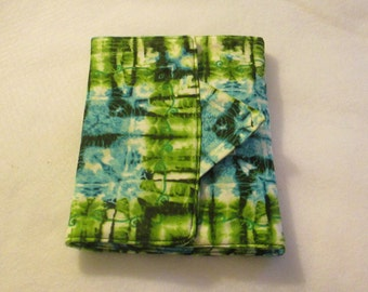Handmade - Green and Aqua Tye Dye -  Kindle Cover -  Padded eReader - Kindle - Kindle Fire - 8x6 cover  - case