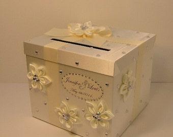 Fall Wedding Gift Card Box : ivory wedding card box gift card box money box holder customize made ...