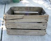 DRAFT BOX 10 Vintage Apple Crate Fruit Box Rustic Wood Box