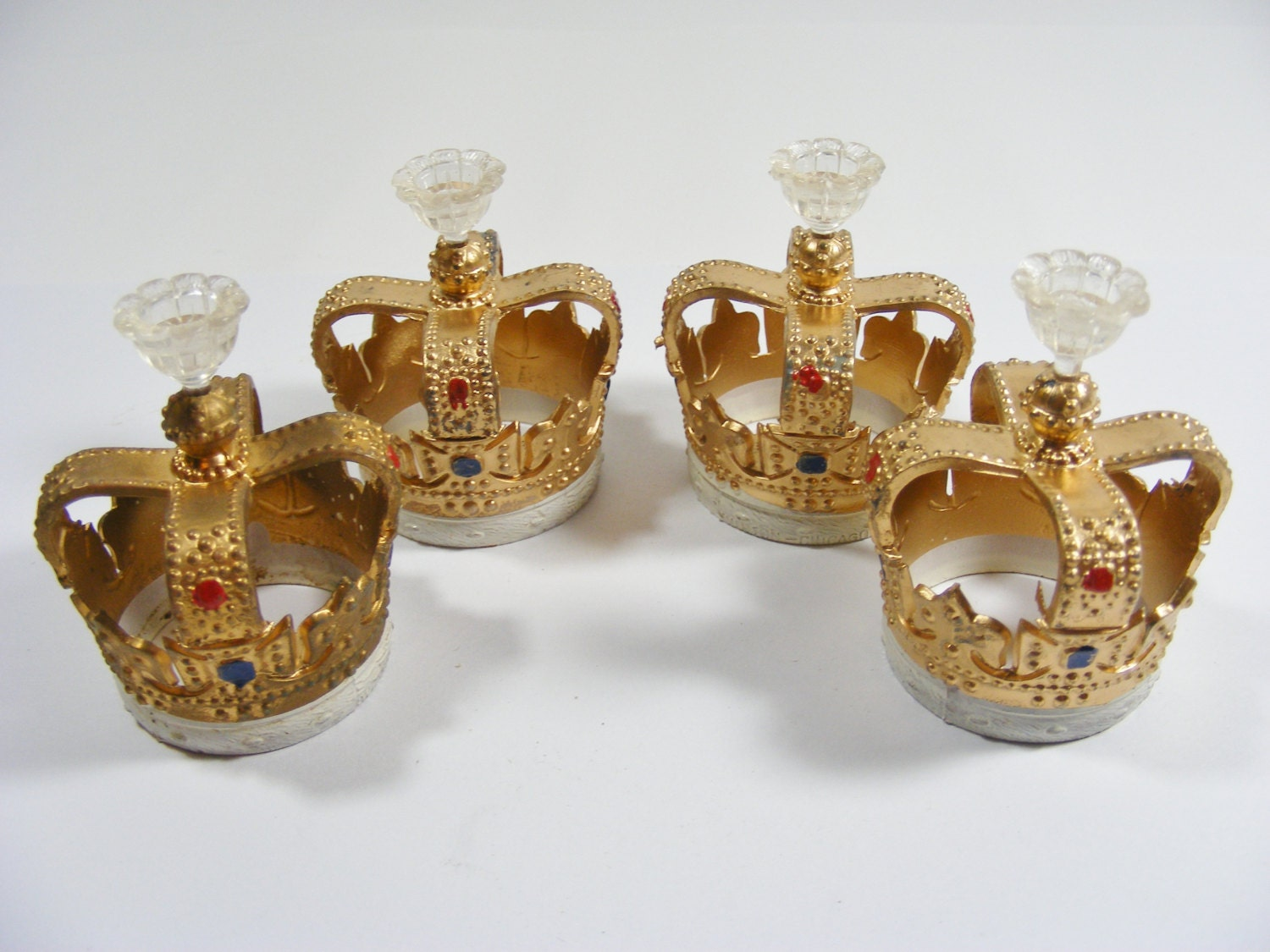 Kings Crown Candle Holder Cake Toppers